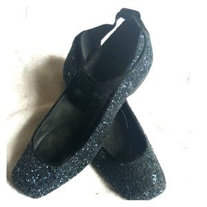 Blue glitter Jessica Simpson ballet flats